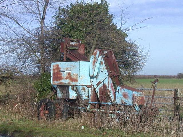Rusty old farm machine