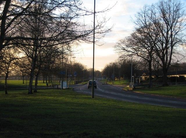 Looking west down Winklebury Way