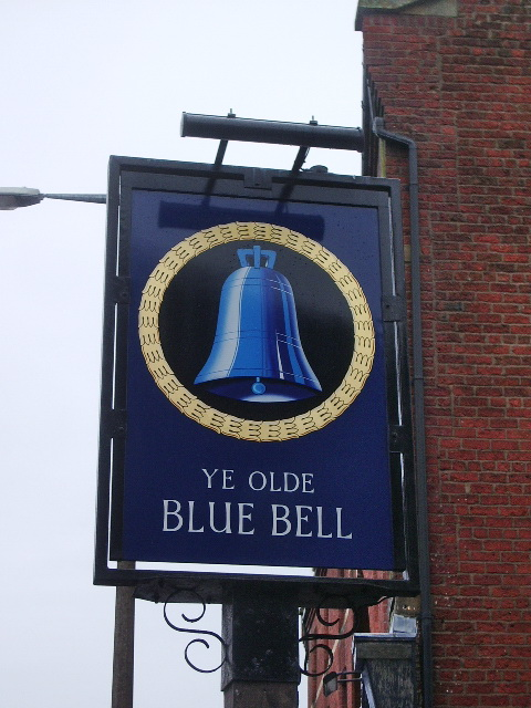 Ye Olde Blue Bell, Church Street, Preston, Sign