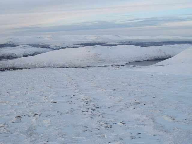 Track above Coire Cam