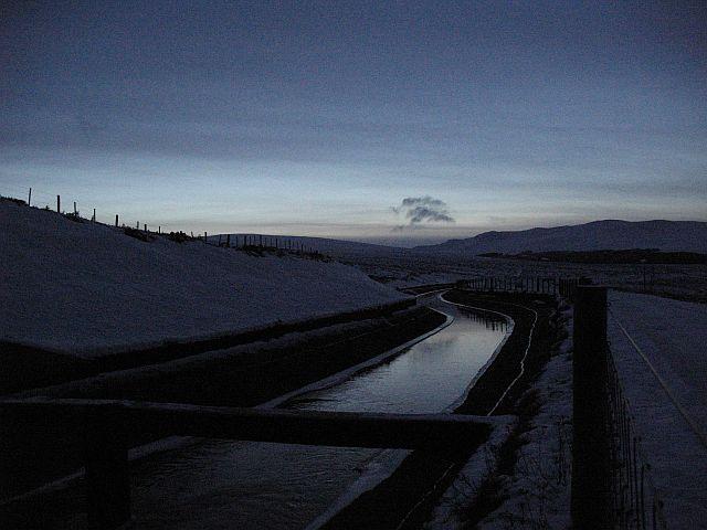 Cuaich Aqueduct at dusk