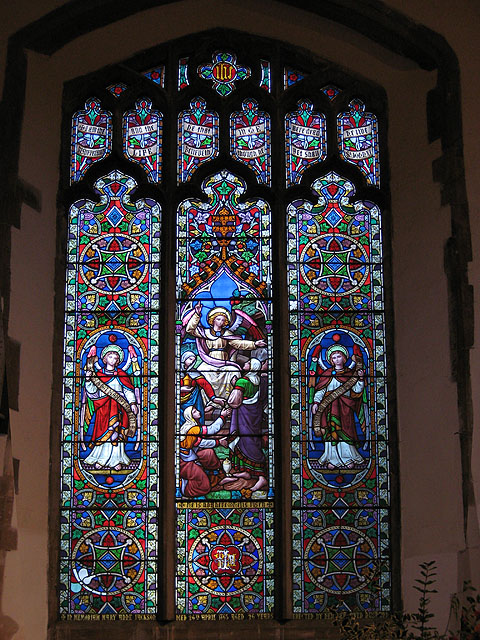 Colourful Victorian stained glass