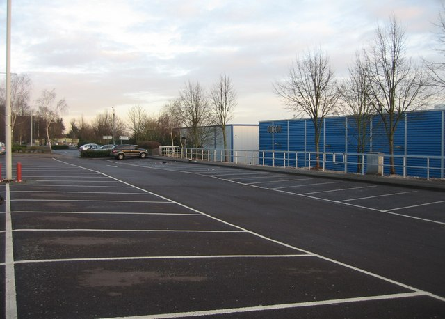 Park & Ride carpark behind the Odeon cinema