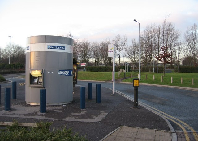 Cash machines at the park & ride
