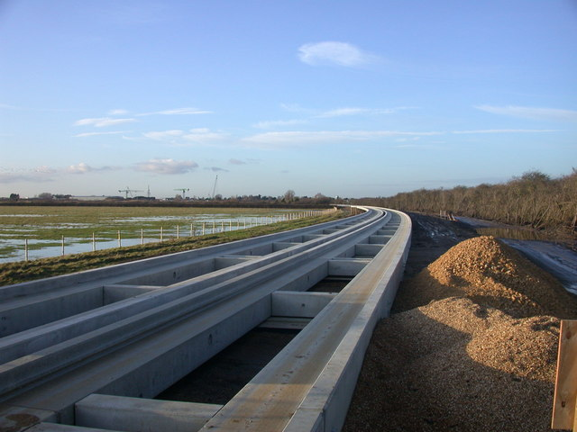 Guided Busway new tracks looking NW