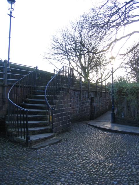The city walls and the Kaleyard Gate