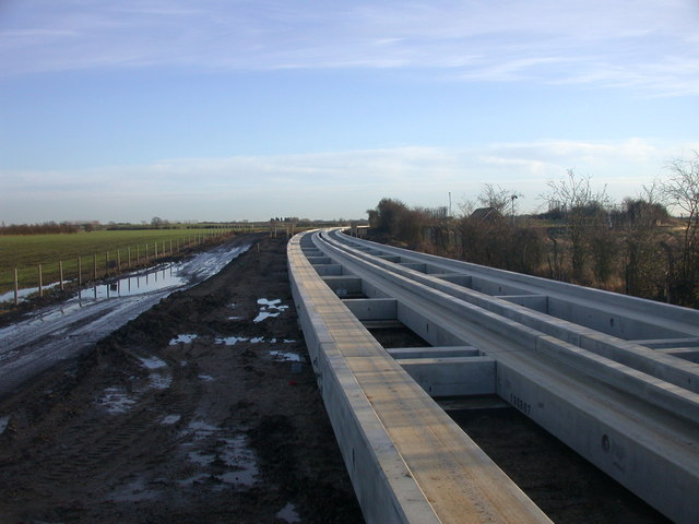 Guided Busway new tracks looking SE