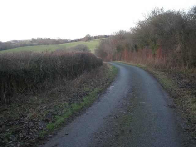 Lane next to Owlbury Hall