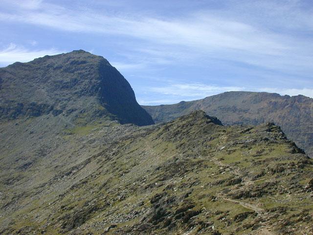 View towards Yr Wyddfa from Bwlch Ciliau