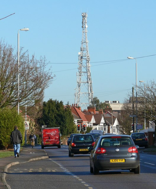 Coventry Road towards Hinckley town centre