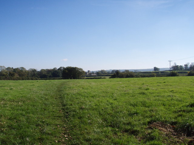 View of Fields and Church of St Mary & St James