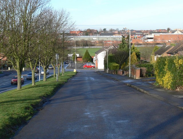 Rugby Road in Burbage, Leicestershire