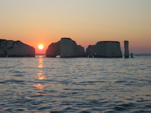 Old Harry Rocks at Sunset