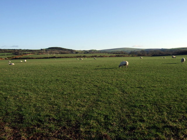 Crug Cilshafe across fields