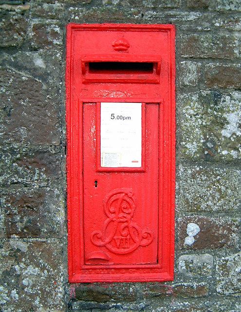 Edward VII wall letter box near Tintern Abbey