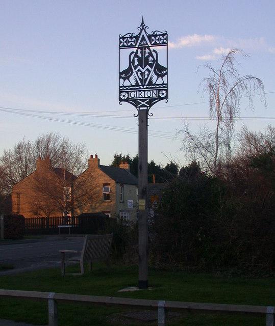 Girton Village Sign