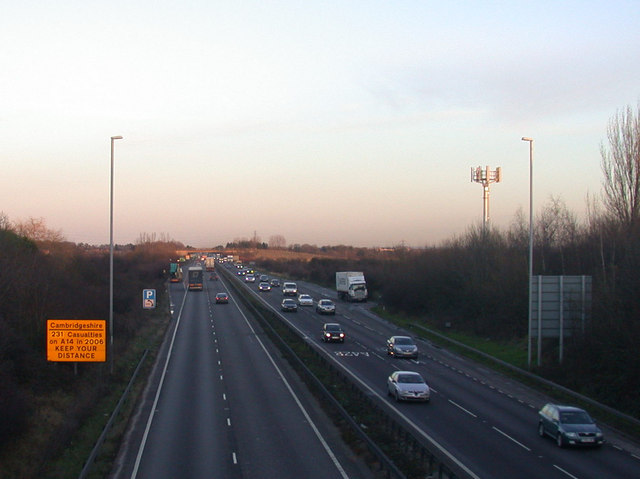 A14 at twilight