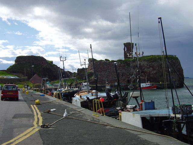 Victoria Harbour and castle, Dunbar, East Lothian, Scotland