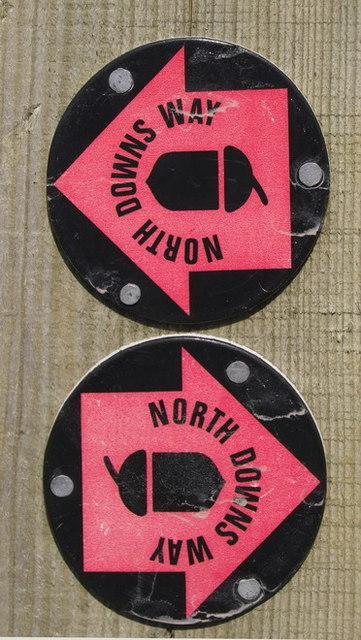 North Downs Way Waymark at Wrotham