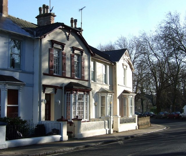 Terraced houses on Lymington Road, Torquay