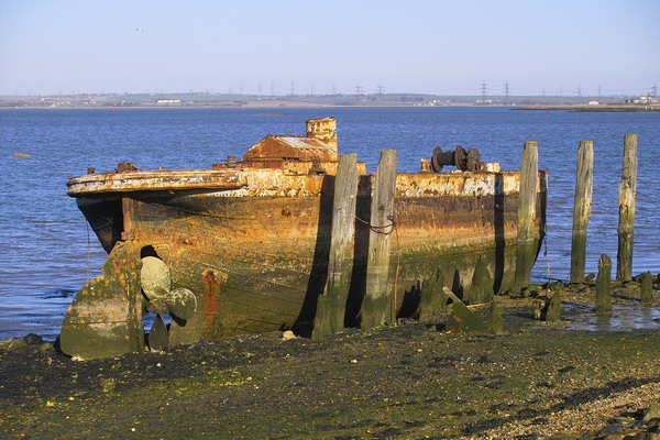 Derelict Barge at Riverside Country Park