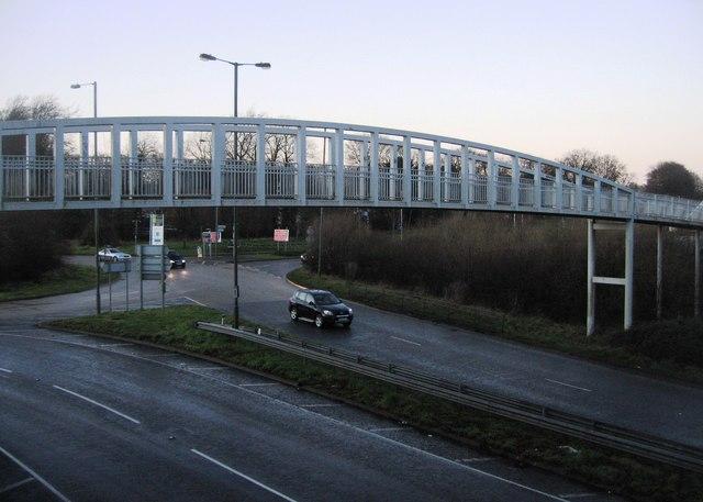 Footbridge linking Rooksdown & Clarke Estate
