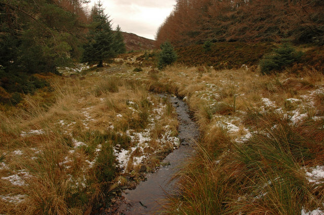 Unnamed burn running down from the slopes of Meall Mor