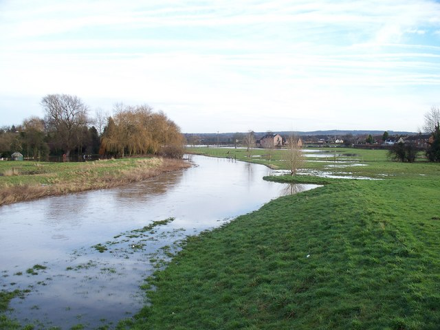 River Penk in flood at Penkridge