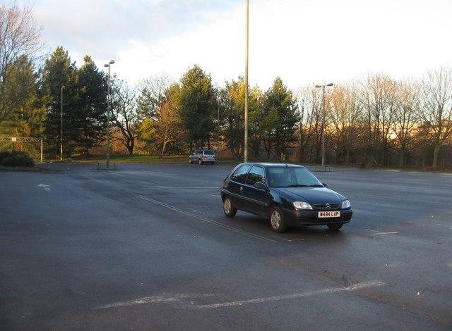 Lone Car - Winklebury playing fields
