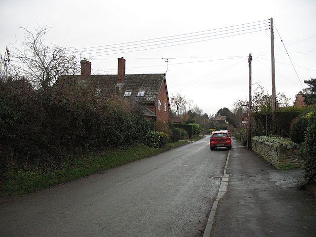 Road through Ashford Carbonel