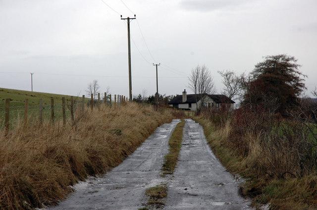 Icy track past Croftjames