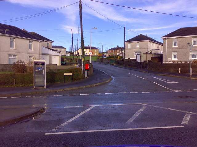 Road junction at Hendy