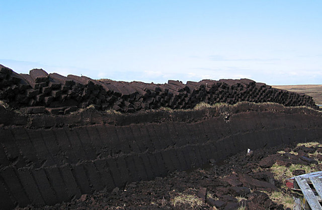 Peat bank above Sellafirth