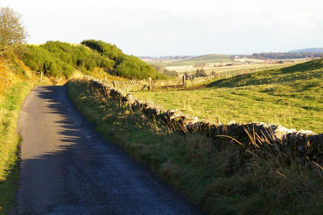 Road over Hill of Finavon, Angus