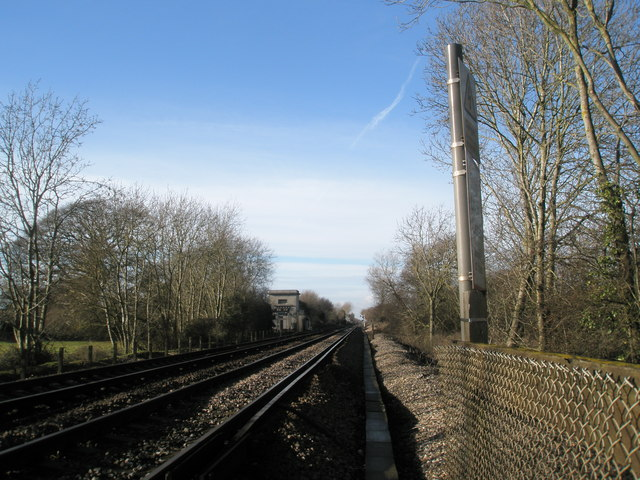 Looking from foot crossing towards Fishbourne
