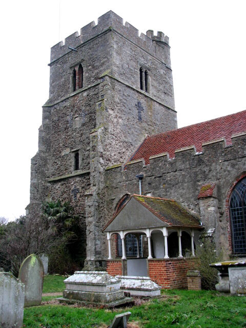 St Edmund's church - tower and porch