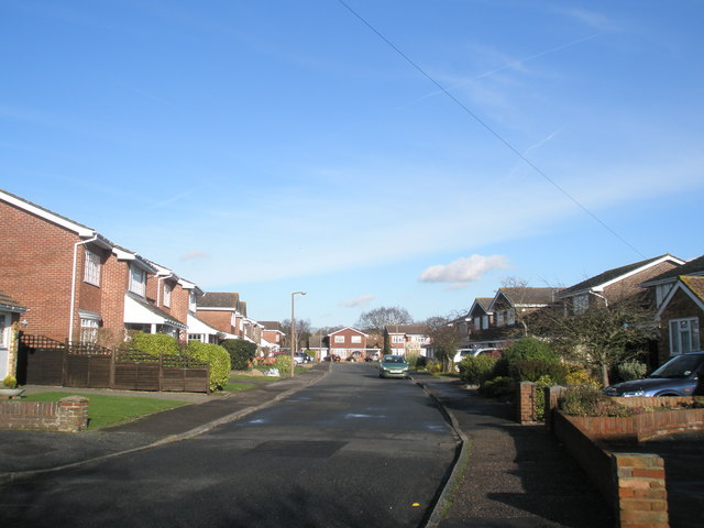 Looking west down Barker Close