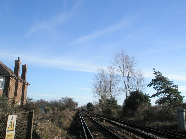Looking from Blackboy Crossing down to Fishbourne Station