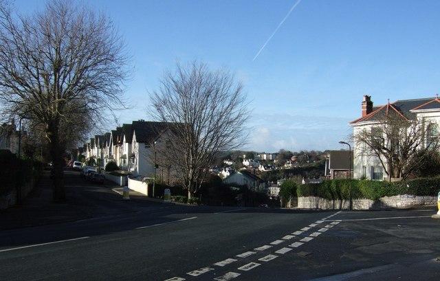 Road junction beside Hatfield Cross