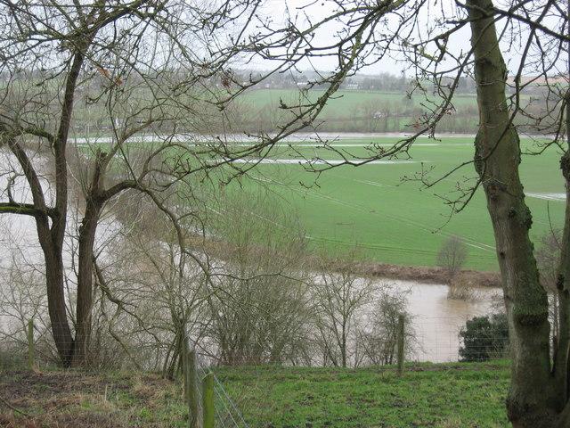 River Wye in Winter Floods