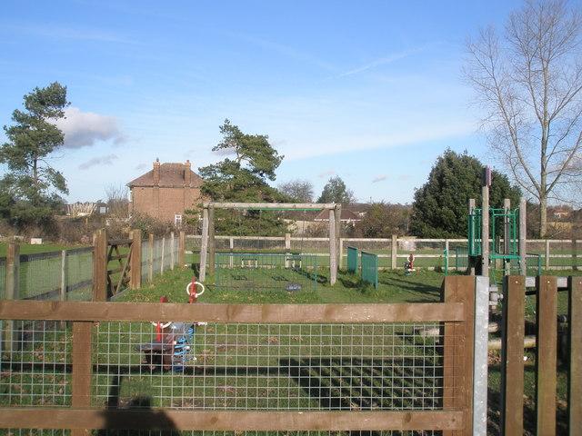 Children's playground near Fishbourne Club