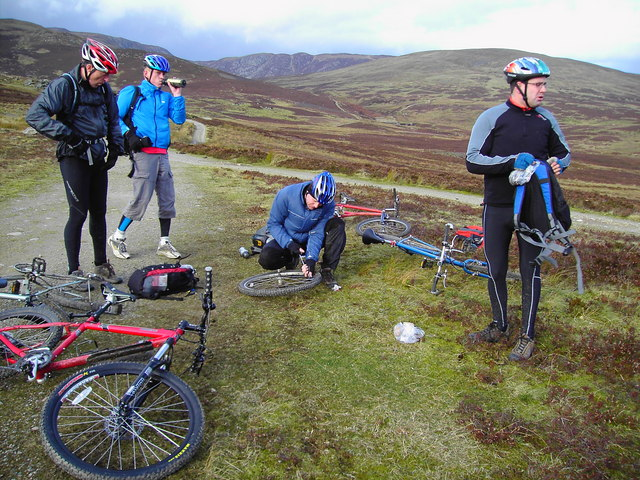 Puncture near Loch Turret