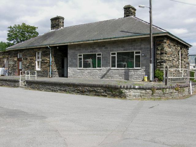 Rhayader station building, platform side