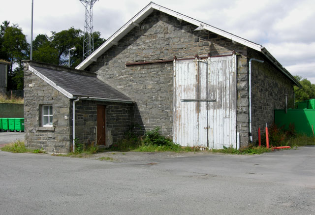 Rhayader old railway goods shed, south end