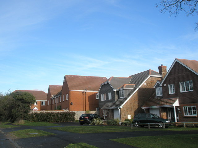 Modern housing at Fishbourne