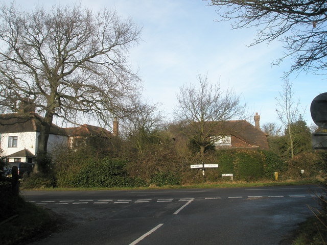 Junction of Clay Lane and Blackboy Lane