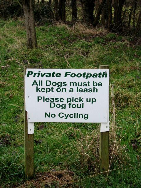 A private footpath?