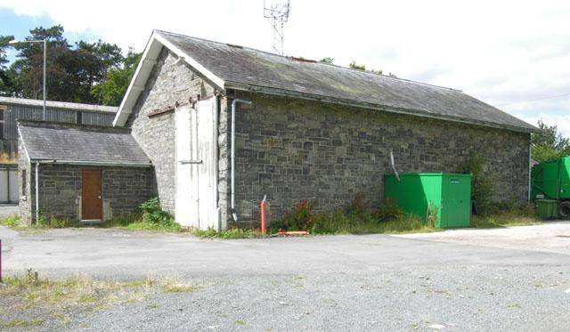 Rhayader old railway goods shed, east side