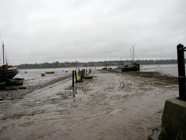 View north across the River Orwell and Potter's Reach