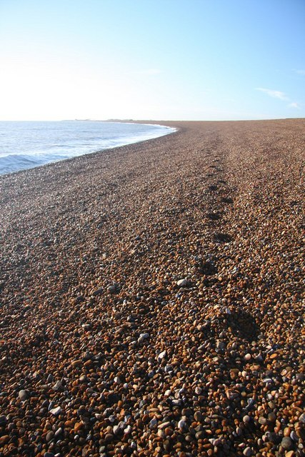 Footsteps in the shingle